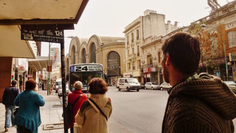 Bushaltestelle in Buenos Aires