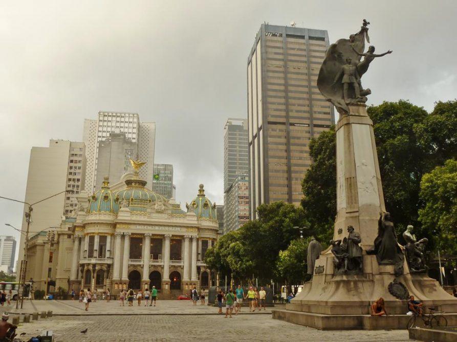Praca Cinelandia, Rio de Janeiro, Brasilien