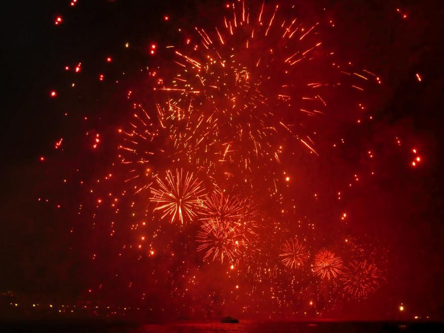 Silvesterfeuerwerk in Rio de Janeiro