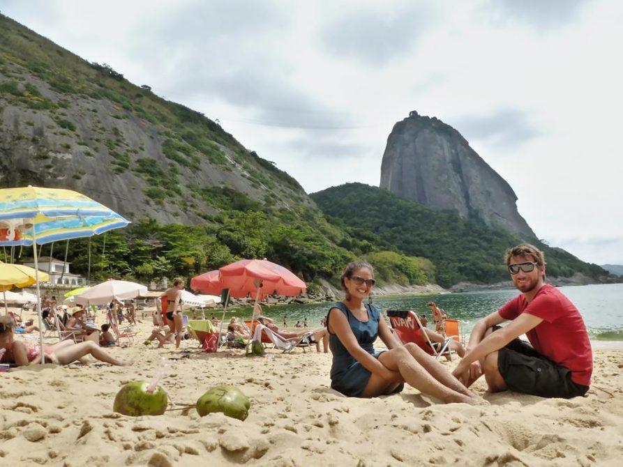Vermelho-Strand mit Blick auf den Zuckerhut, Rio de Janeiro
