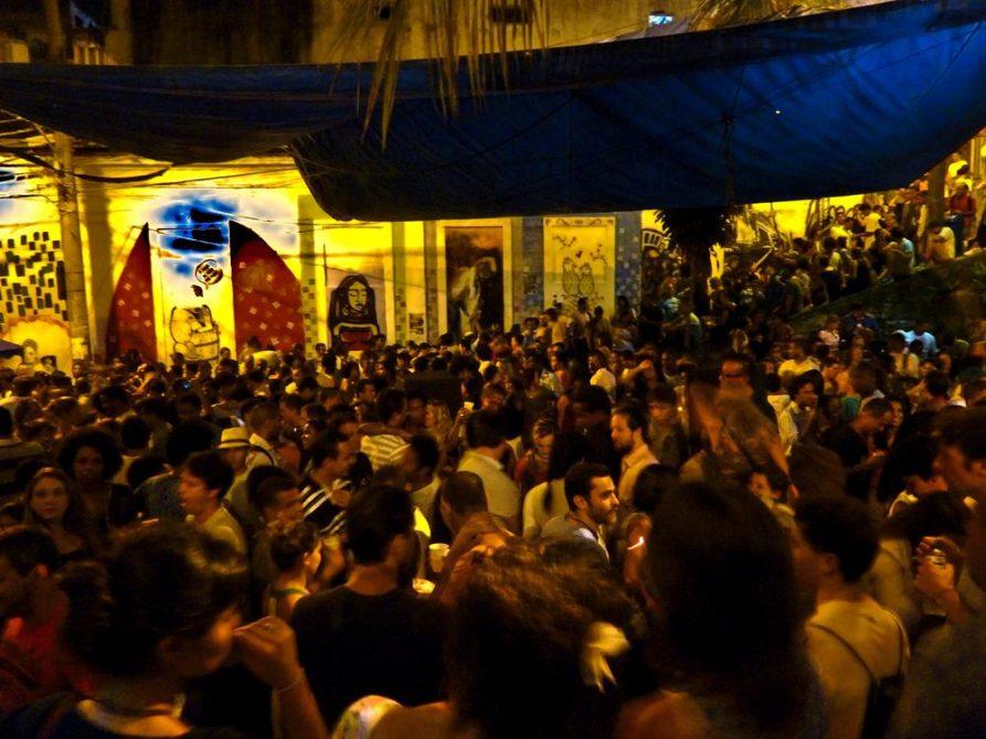 Sambaparty am Pedra do Sal, Rio de Janeiro