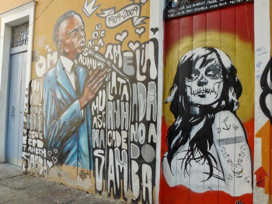 Mural in Lapa, Rio de Janeiro