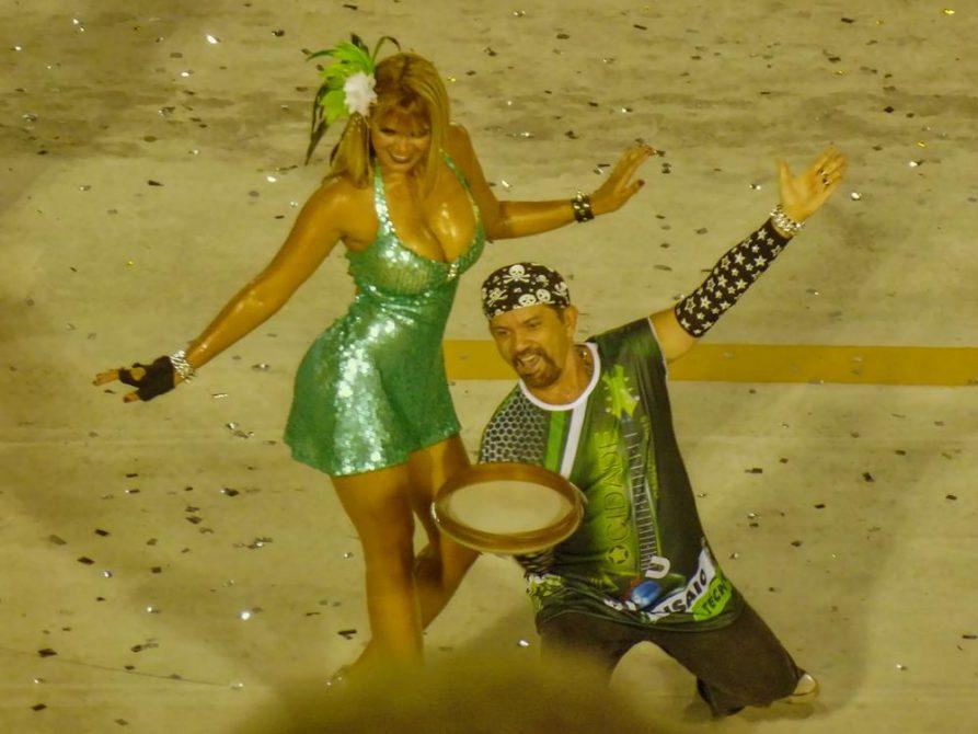 Tänzerin im Sambodromo, Karneval, Rio de Janeiro