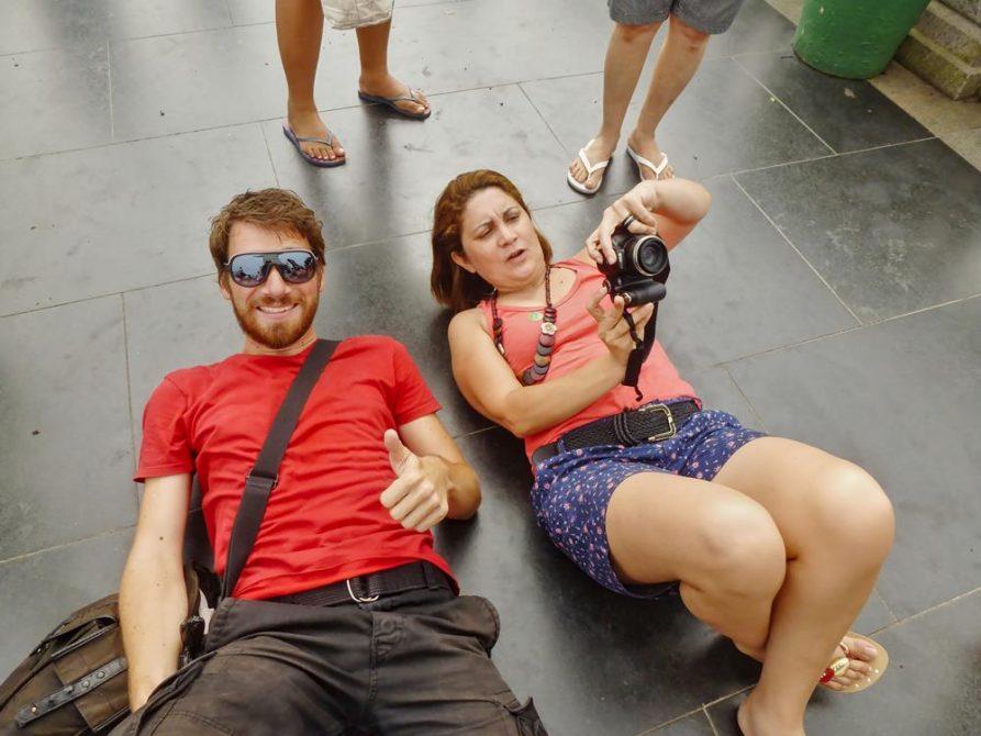 typische Position der Fotografen am Cristo Redentor, Rio de Janeiro