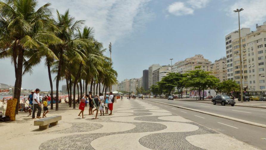 Promenade in Copacabana, Rio de Janeiro