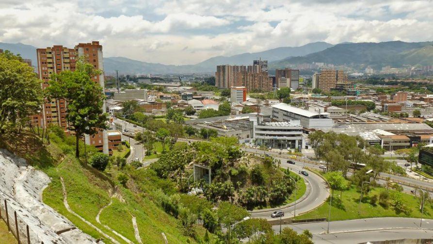 Blick über Medellín, Kolumbien