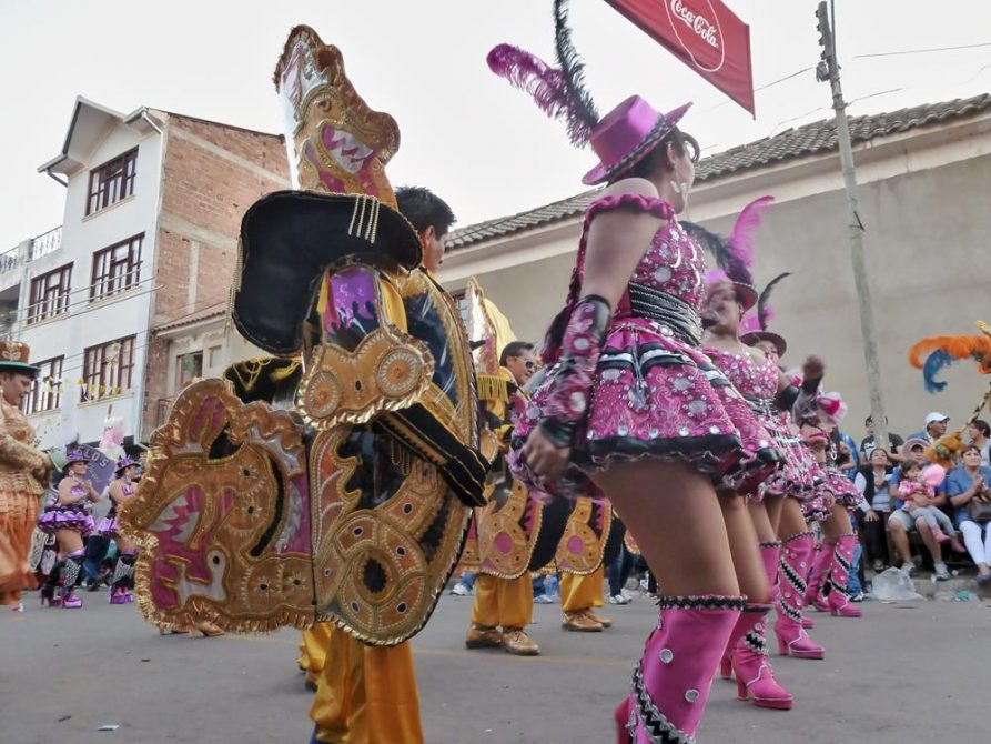 Parade, Fiesta de la Virgen de Urkupiña, Cochabamba