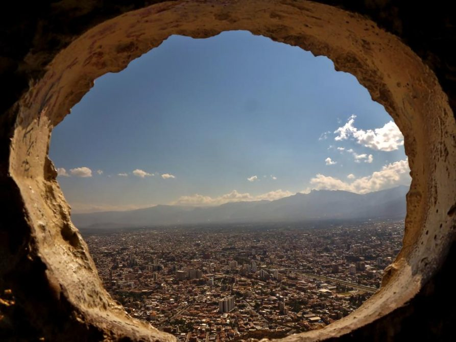 Blick aus dem Körper des Christo de la Concordia, Cochabamba