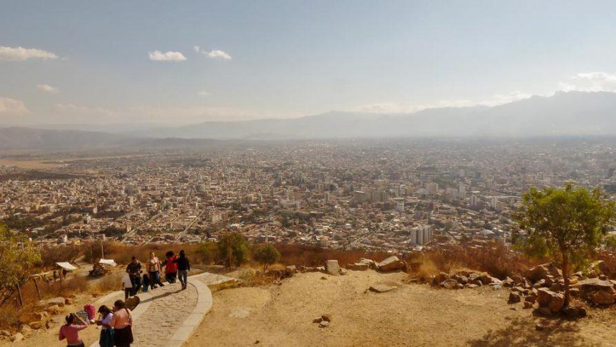 Blick über Cochabamba, Bolivien