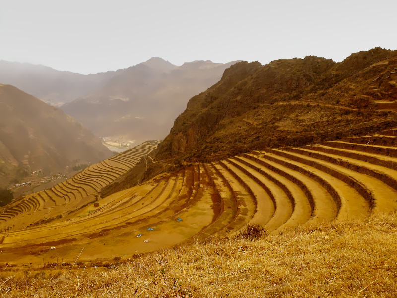 Terrassenfelder bei Pisac, Cusco