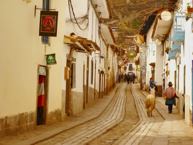 Straßenbild in Cusco