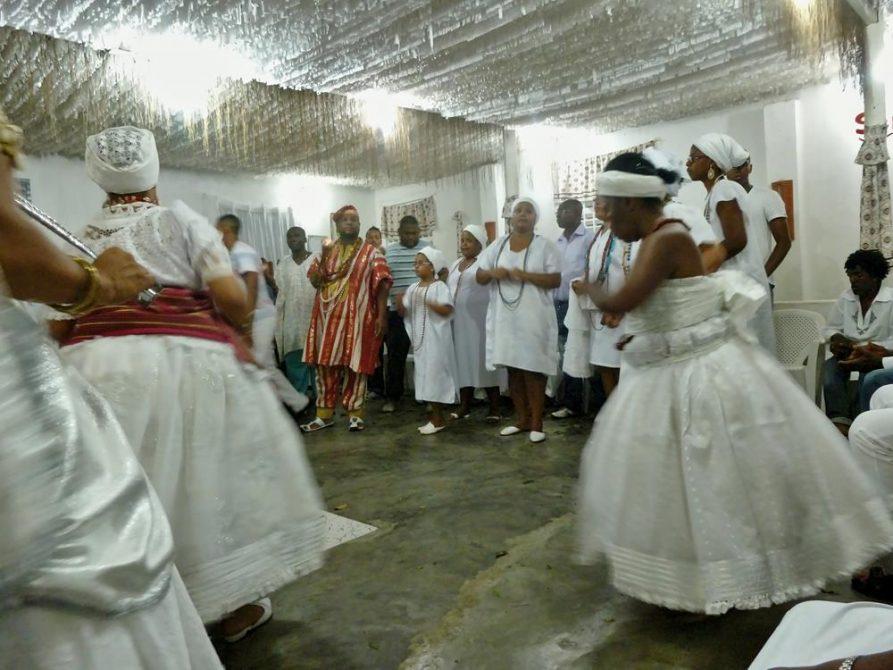 Candomble-Zeremonie, Salvador, Brasilien