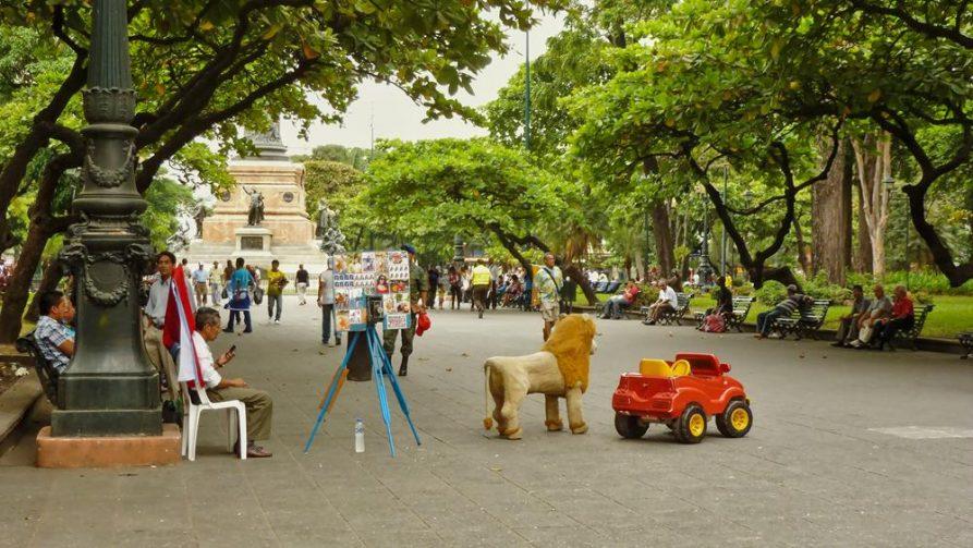 Fotograf auf dem Parque Centenario, Guayaquil, Ecuador
