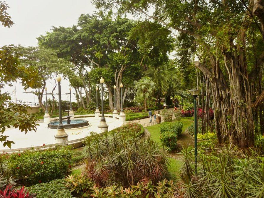 tropischer Garten am Malecón 2000, Guayaquil