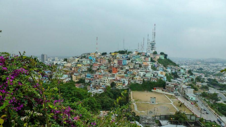 Blick auf Las Peñas und Santa Ana, Guayaquil, Ecuador