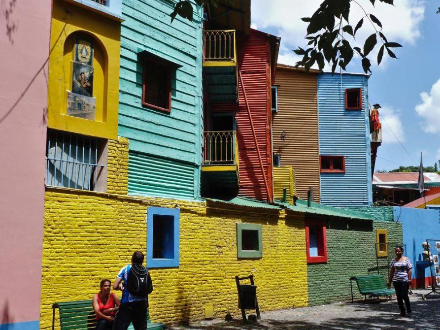 bunten Fassaden im El Caminito, La Boca, Buenos Aires