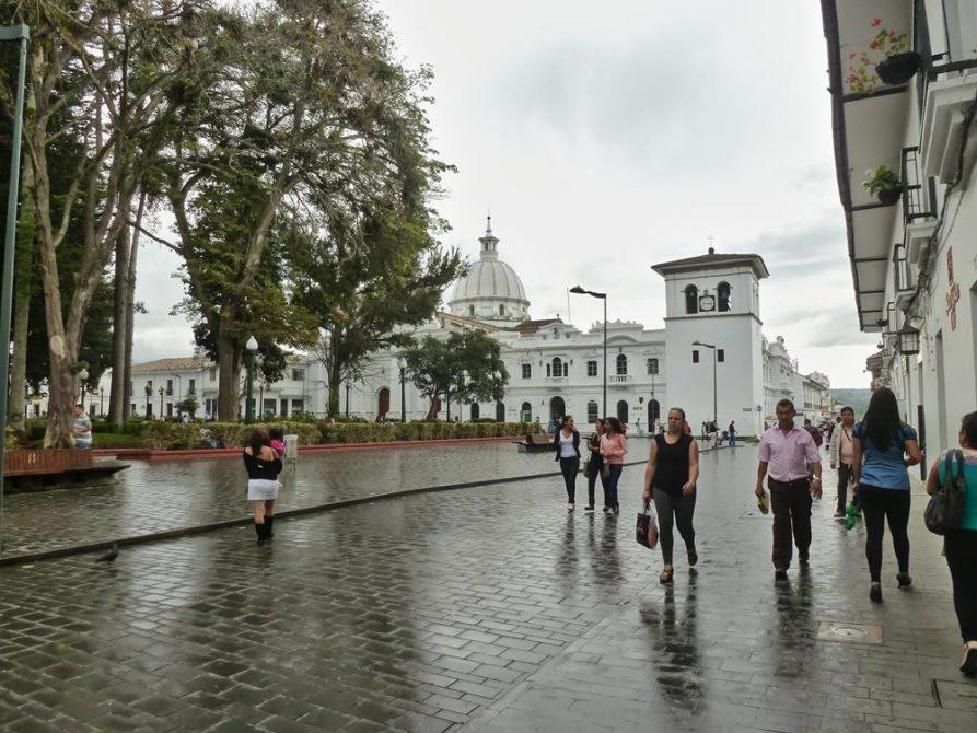 Parque Caldas und Kathedrale in Popayán