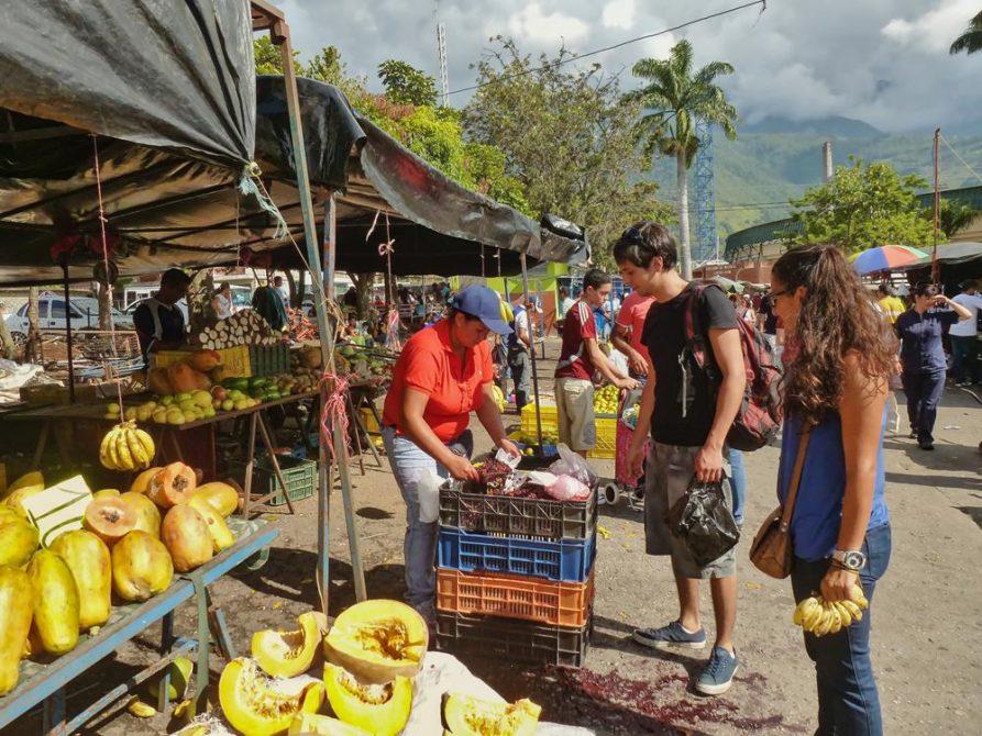Markt in Mérida, Venezuela