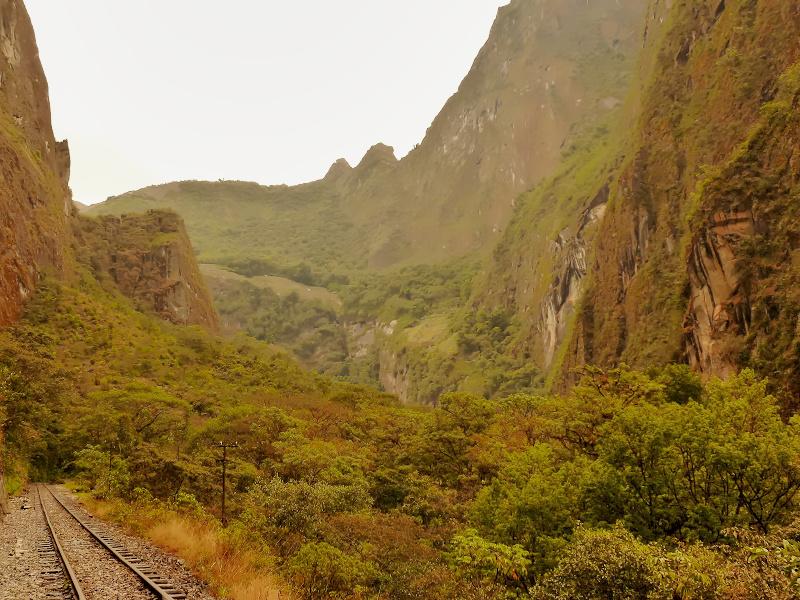 HochgebirgswSchienen nach Aguas Calientes, Salkantay Trekandern in Peru, Salkantay Trek