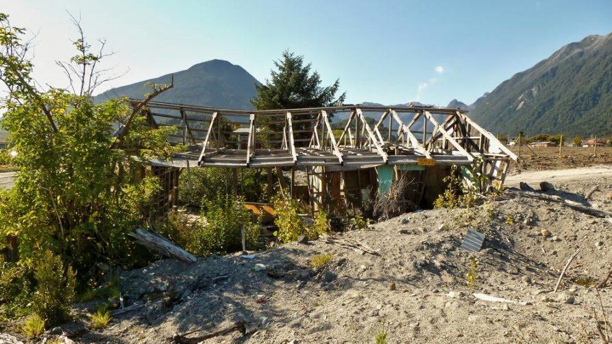 zerstörtes Dorf, Chaitén, Chile
